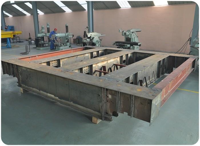 100 tons crane box girder structure rail transfer cart