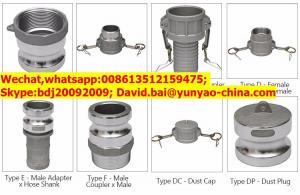 China Good Performance Universal Male Female Camlock Quick Release Coupling on sale