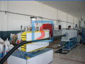 China PE Carbon Spiral Plastic Extrusion Line For Corrugated Spiral Pipe on sale