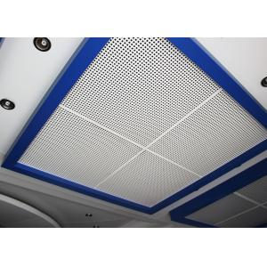 China Tejas perforadas del techo suspendido del metal con el aislamiento sano en la hoja de acero/de aluminio on sale