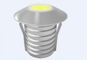 China Edison 12V Single Color LED Inground Light 1W IP67 40 Degree In Stainless Steel on sale