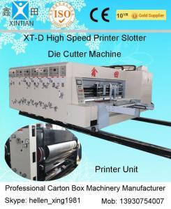 China Automated Feeding Flexo Printer Slotter Machine High Speed Cutting Machine on sale