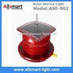 15LED Red Flash Solar Marine Beacon Offshore Lights With Spike Drive Bird Needle Ship Signal Lamp Ocean Sea Solar Light