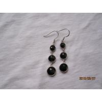 925 silver jewerly,black onyx earrings,fine jewelry