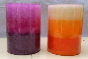 China 4 x 6 Inch Multi Colour Large Led Pillar Candle For Wedding Anniversary on sale
