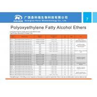 fatty alcohol ethoxylate, fatty alcohol ethoxylate