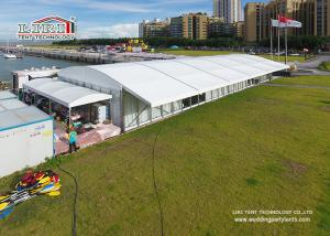 China 20 Width Arcum Tent With Eave Extension And Glass Walls For Wedding Parties on sale