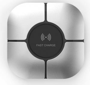 China Mobile Phone Accessories Aluminum 10W Qi Fast Wireless Phone Charger For Home and Travel on sale