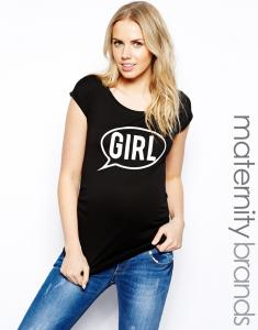 China maternity shirt with speech bubble print maternity clothes manufacturers on sale