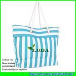 China LUDA striped women paper straw handbags wholesale