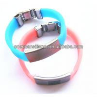 China Hot Sale fasionable Silicone Bracelet,silicone band with Metal Clip on sale