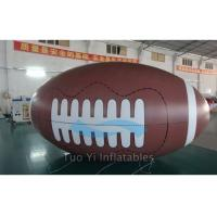 Big Advertising Balloons Inflatable Rugby Ball For Event Showing