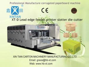 China Lead Edge Feeding Corrugated Box Printing Machine 30 Kw , 13000*4900*3200 Mm on sale