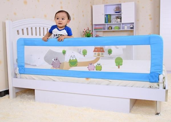 Fashion Pink Baby Bed Rails Cartoon Safe Guard Railing For 1 3