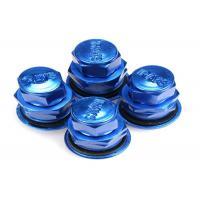 Blue Colored Valve Stem Caps/ Tire Air Valve Cap Rubber Metal Valve Mouth