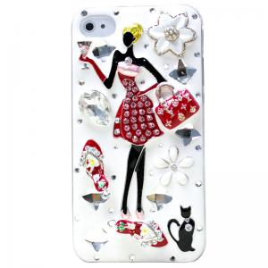 China New Fashionable Crystal Diamond 3D Phone Cases for iPhone 4/4S/5 on sale