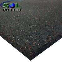 15mm Heavy Duty Area Anti Static  Gym Rubber Flooring Tiles