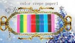 papel de crespón del color