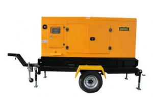 China Soundproof Trailer CUMMINS Diesel Generator 250KVA / 200KW Orange Color Canopy Type on sale