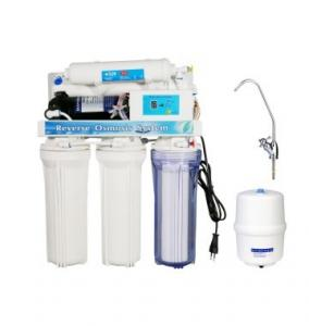 China Manual / Auto Flush Ro Reverse Osmosis Water Filter Home Water Treatment Systems on sale