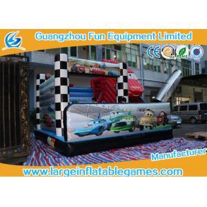 China 5*5*4M PVC Tarpaulin Inflatable Bouncy Castle Car Theme Slide for kids on sale