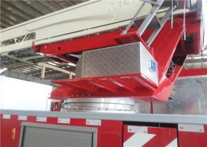 China Mercedes Aerial Ladder Fire Truck Pump Flow 6000L/Min 24V Charging Socket on sale