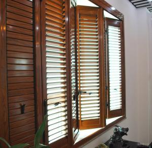 China Residential Bi Fold Aluminium Windows  / Collapsible Windows With Louver supplier