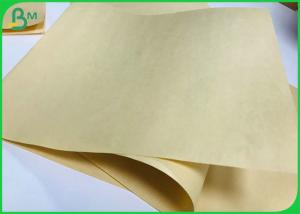 China Biodegradable Bamboo Pulp Paper 70g 90g Brown Packaging Paper For Food Wrapper on sale