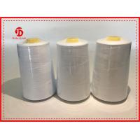 Eco Friendly 100% Polyester Sewing Thread With 40/2 Counts , Bleach White Color