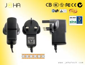 China UK plug Wall mount power ac adapter 12v 1a,for LED strip,CCTV camera etc.CE.GS.UL.RoHs mark on sale