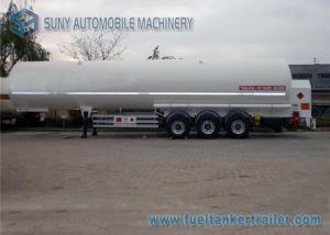 China Q235 炭素鋼 12 個のタイヤが付いている 23.5 トン LPG タンク トレーラー 3 の車軸 on sale
