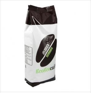 China Gravure Printing Custom Made Coffee Stand Up Bag Packaging With One Way Degassing Valve on sale