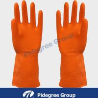 White/ Blue Knitted Industrial Nitrile Glove For Working 10""