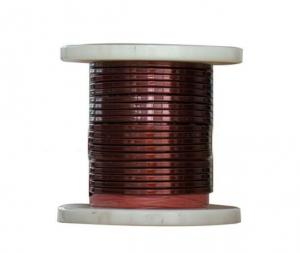 China SWG 1 mm Rectangular Copper Wire , Enameled Copper Magnet Wire For Electrical Motors on sale