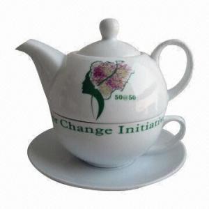 China Porcelain Teapot, 3pcs Tea for One Set on sale
