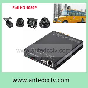 China Vehicle Mobile DVR GPS 3G HD 1080P SD Card Video Recorder, In Car CCTV DVR, School bus DVR 4 Channel on sale