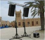 El braguero ligero de teatro se coloca/el sistema del braguero del concierto para el braguero del partido
