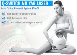 China Skin Treatment ND YAG Laser Machine , Q Switched ND YAG Laser For Pigmentation on sale