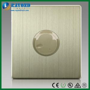 China 300W Fan Speed Control Switch on Wall with Brushed Stainless Steel Panel on sale