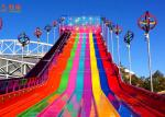 Funny And Exciting High Speed Slide ,  Fiberglass Water Slide Customized Color