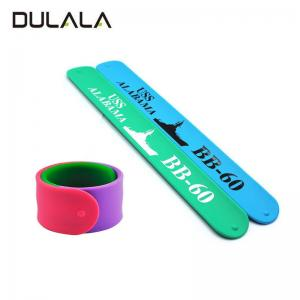 China China Factory Directly Promotional Gifts Ruler Bands Silicone Slap Bracelet For Kids on sale