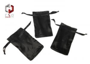 China 120 * 100mm Shiny Satin Drawstring Bag For Bottle , Sun Visor on sale