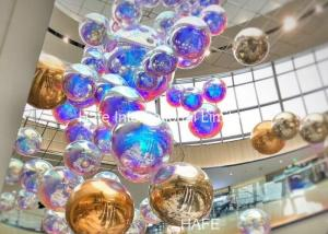 China Advertising Silver Inflatable Mirror Balloon Reflective Ball Theme Decoration Use on sale