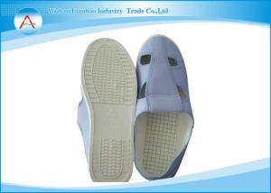 China Unisex 4 Holes Canvas Food Industrial Anti Static Safety Shoes in Cleanroom on sale