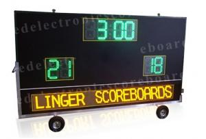 China 2 Teams Wireless Baseball Scoreboard , Portable Digital Scoreboard With Wheels on sale