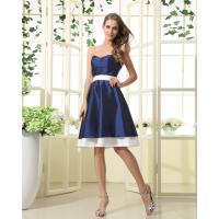 Grace Sweetheart A Line Navy And Ivory Taffeta Short Bridesmaid Dress On sale