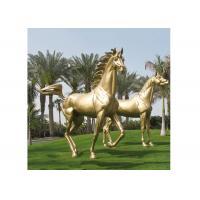 Modern Garden Decoration Metal Bronze Horse Sculpture , Bronze Horse Statue