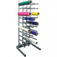 China Industrial Metal Vinyl Roll Storage Rack on sale