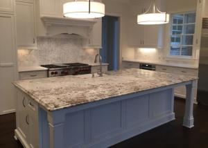 Kitchen Natural Stone Granite Countertops Island Polished Finish For