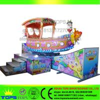 HENAN TOPS Amusement  ONE PIECE track rides era spin boat \era rotary boat\ slide boat